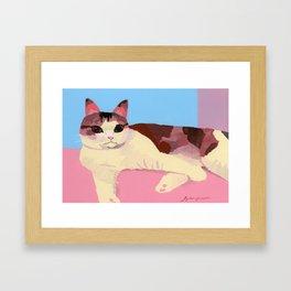 Cat healed Framed Art Print