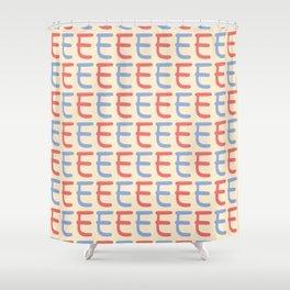 Capital Letter E Pattern Shower Curtain