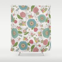 manchester Shower Curtains featuring Manchester floral by Silvia Dekker