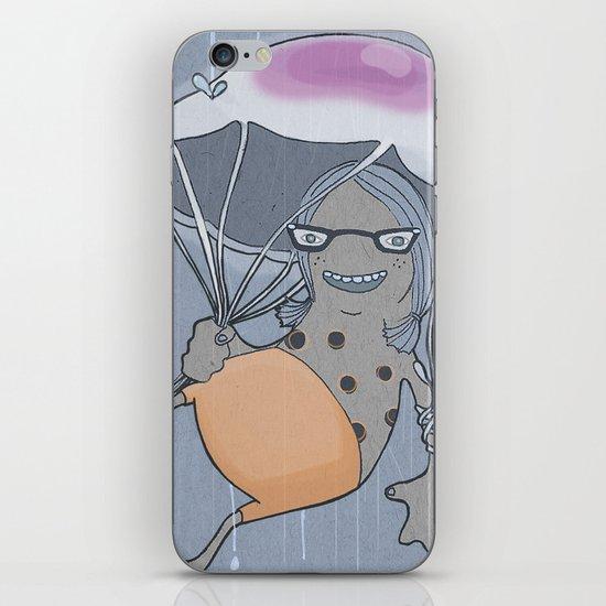 Rainstorm-blue iPhone Skin