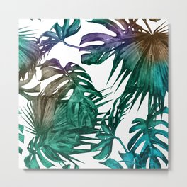 Tropics Tropical Jungle Island Pattern Metal Print