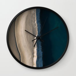 Footsteps during sunrise at a desert lake - Landscape Photography Wall Clock