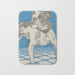 Vintage American Bulldog Illustration (1912) Bath Mat