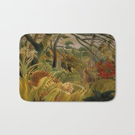 "Henri Rousseau ""Tiger in a Tropical Storm (Surprised!)"", 1891 Bath Mat"