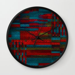 Dark reds in lines of chalk Wall Clock