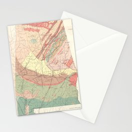Vintage Agricultural Map of Alabama (1882) Stationery Cards