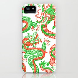 Battling Dragons iPhone Case