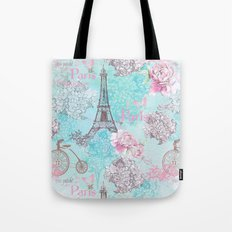 I love Paris-blue Tote Bag
