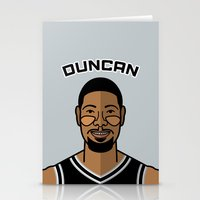 tim shumate Stationery Cards featuring Tim Duncan by Will Wild