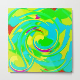 Phantom Swirl Metal Print