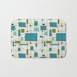 Mid-Century Modern (teal) Bath Mat