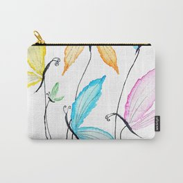 colorful flying butterflies Carry-All Pouch