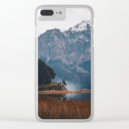 Winter mornings by the lake Clear iPhone Case
