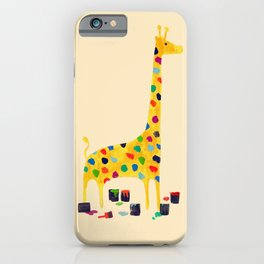 Paint by number giraffe iPhone Case