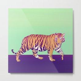 Tiger Under the Sun Metal Print