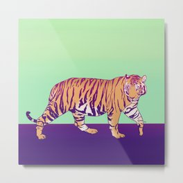 Tiger Under the Sun Metal Print