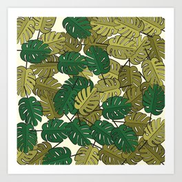 Botany: Monstera Deliciosa Art Print