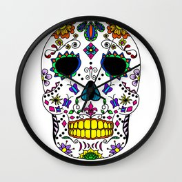 Dead Mask - Day of the Dead Wall Clock