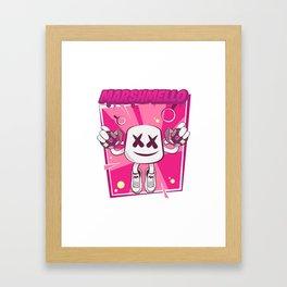 Marshmello Kid Framed Art Print