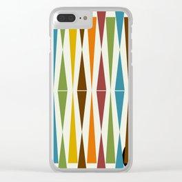 Mid-Century Modern Art 1.4 Clear iPhone Case