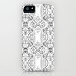 Design 127 grayscale abstract iPhone Case