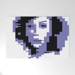8 Bit Portrait of a Girl Welcome Mat