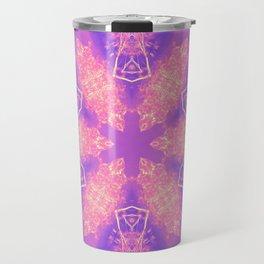 Alien pink snowflake Travel Mug