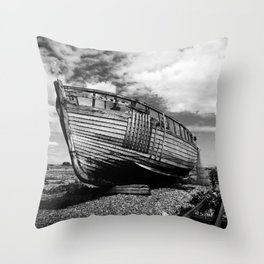 The Clinker Fishing Boat Throw Pillow