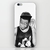 tyler the creator iPhone & iPod Skins featuring Tyler the Creator by Rui Faria