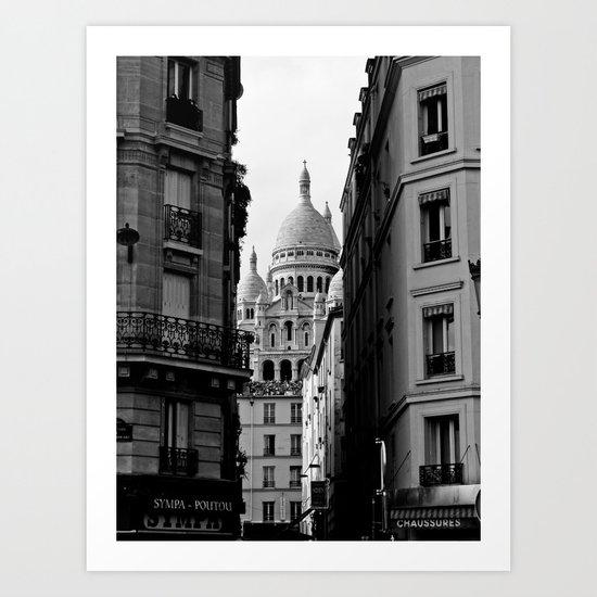 Sacre Coeur desde Pigalle Art Print