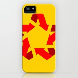 Recycle red star Symbol of new communism iPhone Case