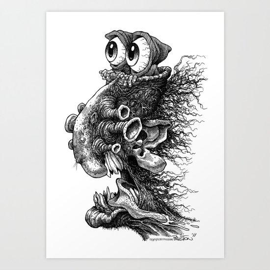 Hoodeyes Art Print