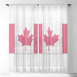 Flag of Canada. The slit in the paper with shadows. Sheer Curtain