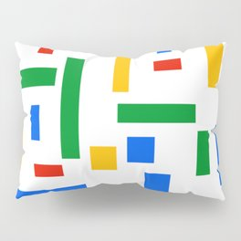 Abstract Google Art Red Green Blue Yellow on White Pillow Sham