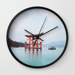 Floating Shringe of Miyamima Wall Clock