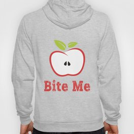 Red Apple Illustration - Bite Me Typography Hoody