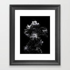 Backyard Flowers In Black And White 4 Framed Art Print