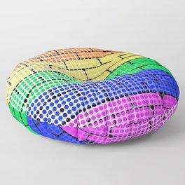 Rainbow Dot Matrix Floor Pillow