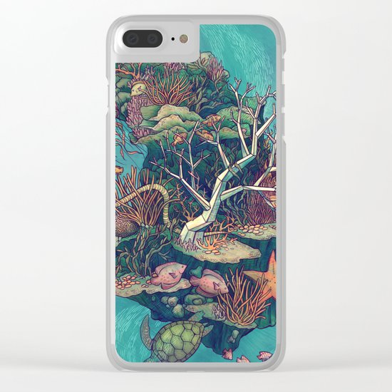 Coral Communities Clear iPhone Case