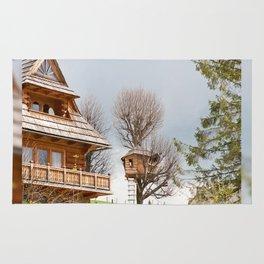 Fairy wooden tree house Rug