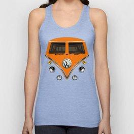 Sale for charity! Orange VW volkswagen mini van bus kombi camper iphone 4 4s 5 5c & galaxy s4 case Unisex Tank Top