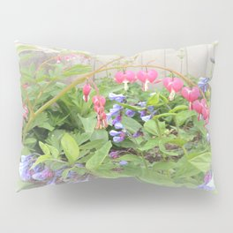 Floral Fantasy Bleeding Hearts and Bluebells Pillow Sham