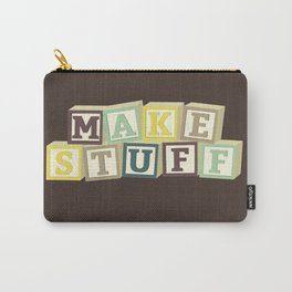 Make Stuff - Brown Carry-All Pouch