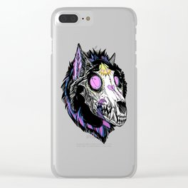 Hypnotic Wolf Skull Clear iPhone Case