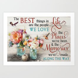 Poster The Best Things In Life Art Print