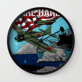 Attack on Pearl Harbor illustration. Wall Clock