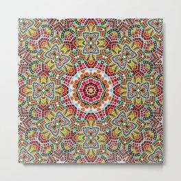 Persian kaleidoscopic Mosaic G508 Metal Print