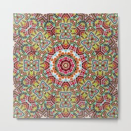 Persian kaleidoscopic Mosaic G508 Metal Print