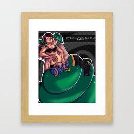snake hunger m Framed Art Print
