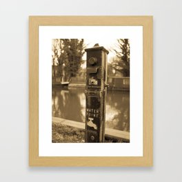 Water Point Framed Art Print